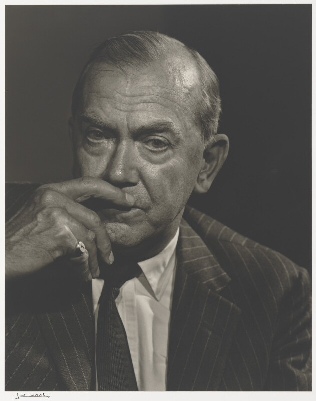 Graham Greene, by Yousuf Karsh, 1964 - NPG P490(37) - © Karsh / Camera Press