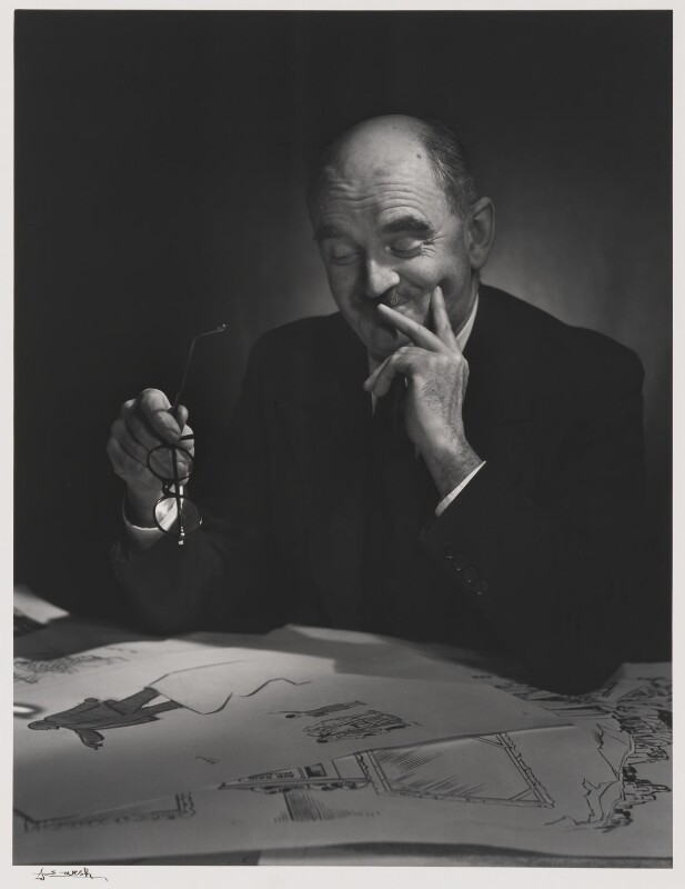 Sir David Low, by Yousuf Karsh, 1943 - NPG P490(47) - © Karsh / Camera Press