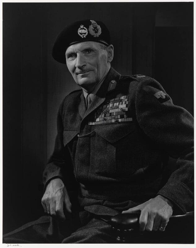 Bernard Law Montgomery, 1st Viscount Montgomery of Alamein, by Yousuf Karsh, 1946 - NPG P490(50) - © Karsh / Camera Press