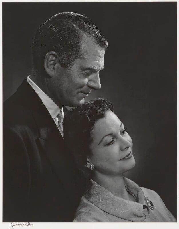 Laurence Olivier; Vivien Leigh, by Yousuf Karsh, 1954 - NPG P490(60) - © Karsh / Camera Press