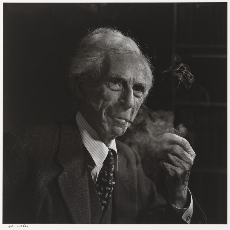 Bertrand Arthur William Russell, 3rd Earl Russell, by Yousuf Karsh, 1949 - NPG P490(68) - © Karsh / Camera Press