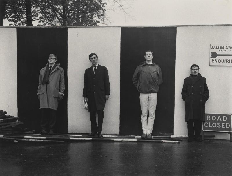 'Beyond the Fringe' (Alan Bennett; Peter Edward Cook; Jonathan Miller; Dudley Moore), by Lewis Morley, 1961 - NPG P512(22) - © Lewis Morley Archive