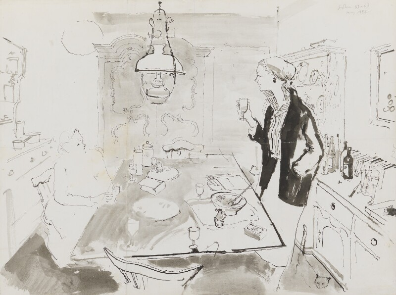 Elizabeth David, by John Stanton Ward, 1956 - NPG 6217 - © National Portrait Gallery, London