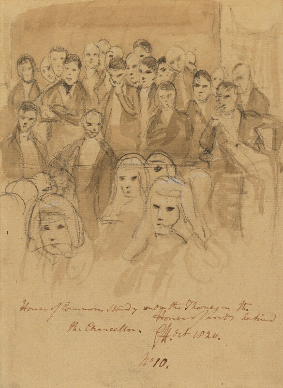 Group including some Members of Parliament, by Sir George Hayter, 1820 - NPG 1695(q) - © National Portrait Gallery, London