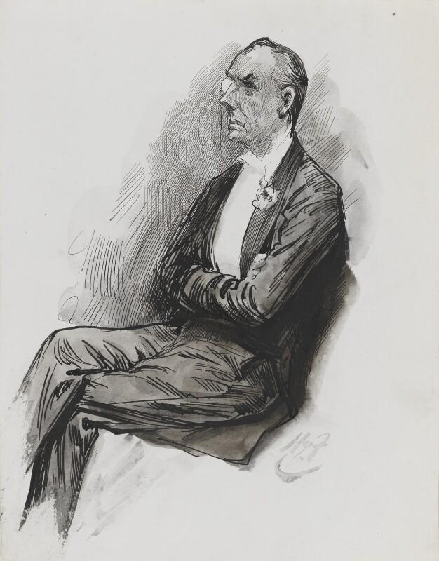 Joe Chamberlain, by Harry Furniss, 1880s-1900s - NPG 3348 - © National Portrait Gallery, London