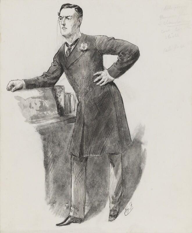 Joe Chamberlain, by Harry Furniss, 1880s-1900s - NPG 3350 - © National Portrait Gallery, London