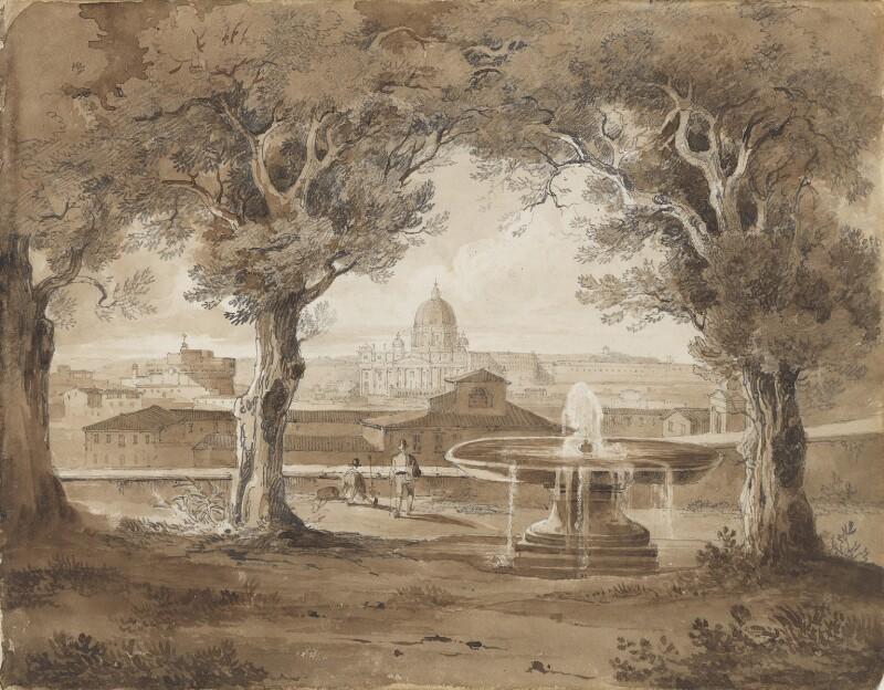 St Peter's, Rome, attributed to Sir Charles Lock Eastlake, 1825 - NPG 3944(2) - © National Portrait Gallery, London