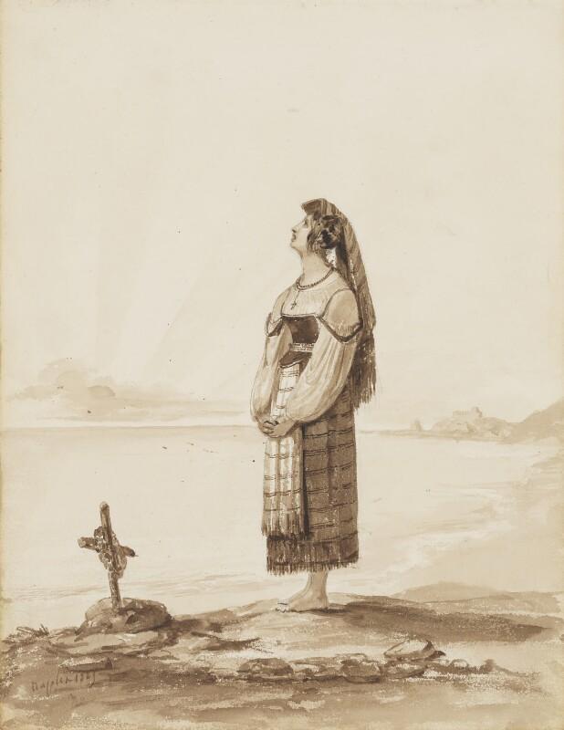 Neapolitan girl, possibly by Thomas Uwins, 1827? - NPG 3944(7) - © National Portrait Gallery, London