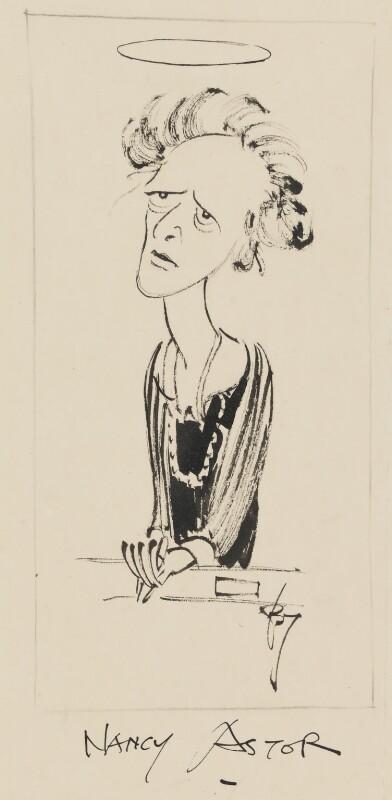 Nancy Astor, Viscountess Astor, by Herbert Samuel ('Bert') Thomas, 1940s? - NPG 4542 - © National Portrait Gallery, London