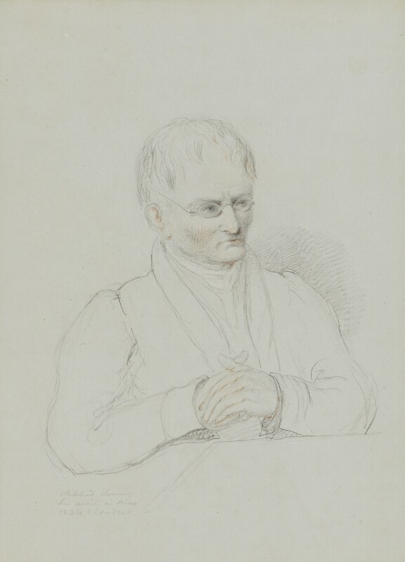 John Dalton, by William Brockedon, 1834 -NPG 2515(66) - © National Portrait Gallery, London