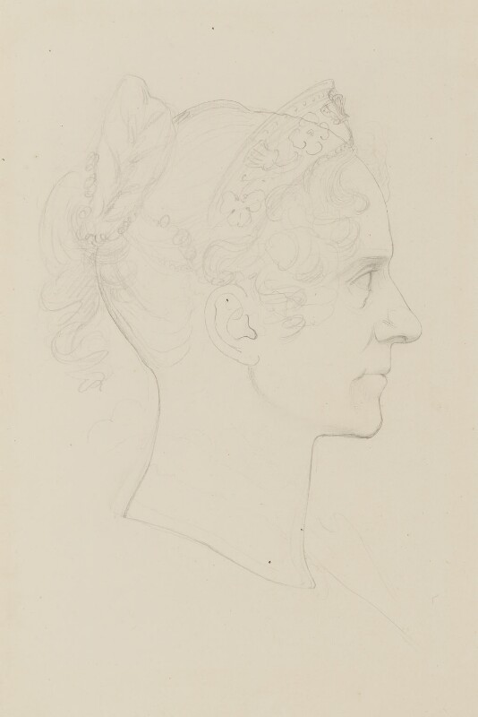 Queen Adelaide (Princess Adelaide of Saxe-Meiningen), by Sir Francis Leggatt Chantrey, circa 1832 - NPG 316a(189) - © National Portrait Gallery, London