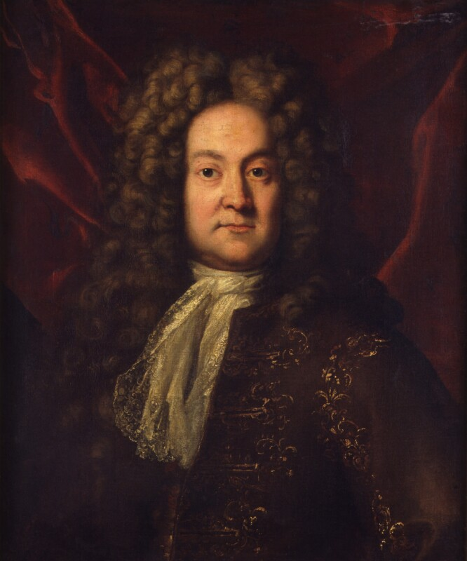 Unknown man, formerly known as Sir George Rooke, by Unknown artist, circa 1710 - NPG 1181 - © National Portrait Gallery, London