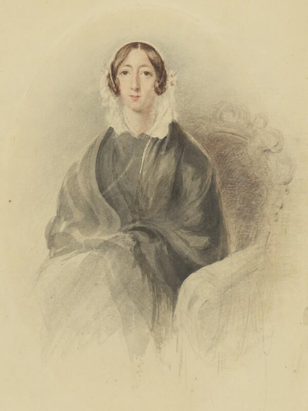 Delvalle Elizabeth Rebecca Varley (née Lowry), by Matilda Heming (née Lowry), 1830s - NPG 1651c - © National Portrait Gallery, London