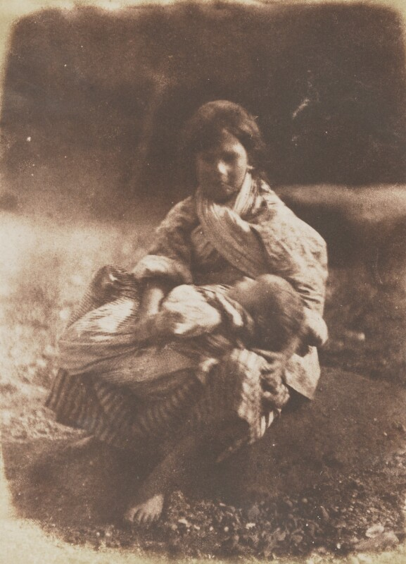 Fisher Lassie and Child, by David Octavius Hill, and  Robert Adamson, 1843-1848 - NPG P6(201) - © National Portrait Gallery, London
