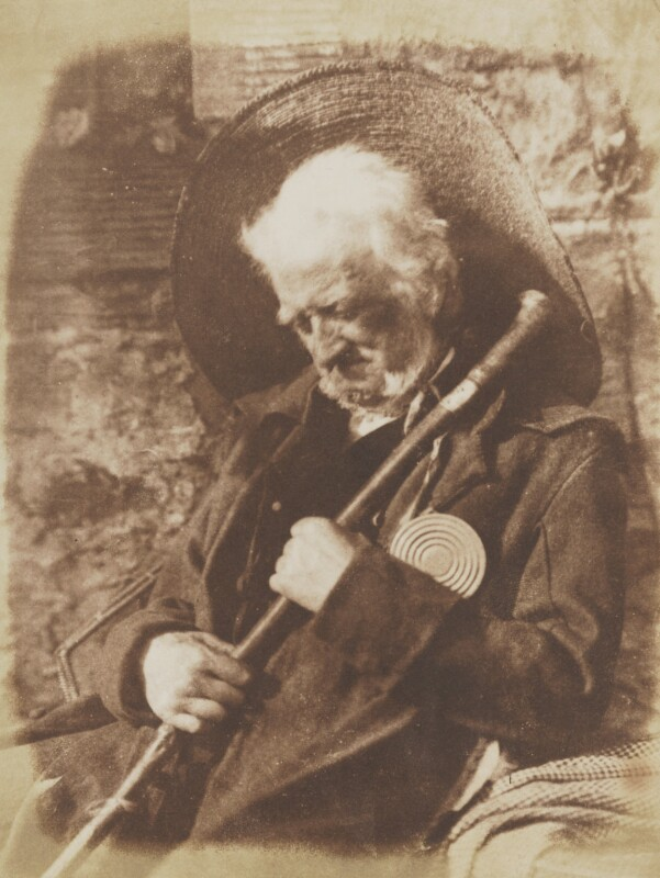 'Edie Ochiltree' (John Henning), by David Octavius Hill, and  Robert Adamson, 1843-1848 - NPG P6(156) - © National Portrait Gallery, London