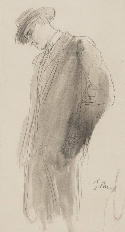 W.B. Yeats, by Augustus John, circa 1910 - NPG 4105 - © National Portrait Gallery, London