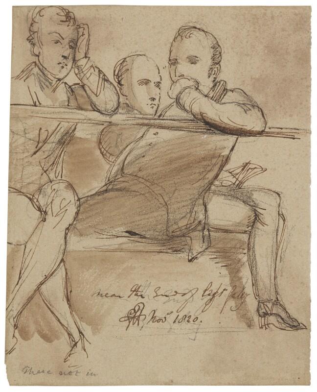 Three unknown sitters, by Sir George Hayter, 1820 - NPG 2662(13) - © National Portrait Gallery, London