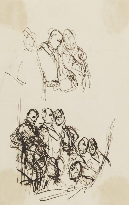 John Jeffreys Pratt, 1st Marquess Camden; Edward Southwell, 21st Baron de Clifford; Thomas Hampden, 2nd Viscount Hampden, by Sir George Hayter, circa 1820 -NPG 2662(23) - © National Portrait Gallery, London