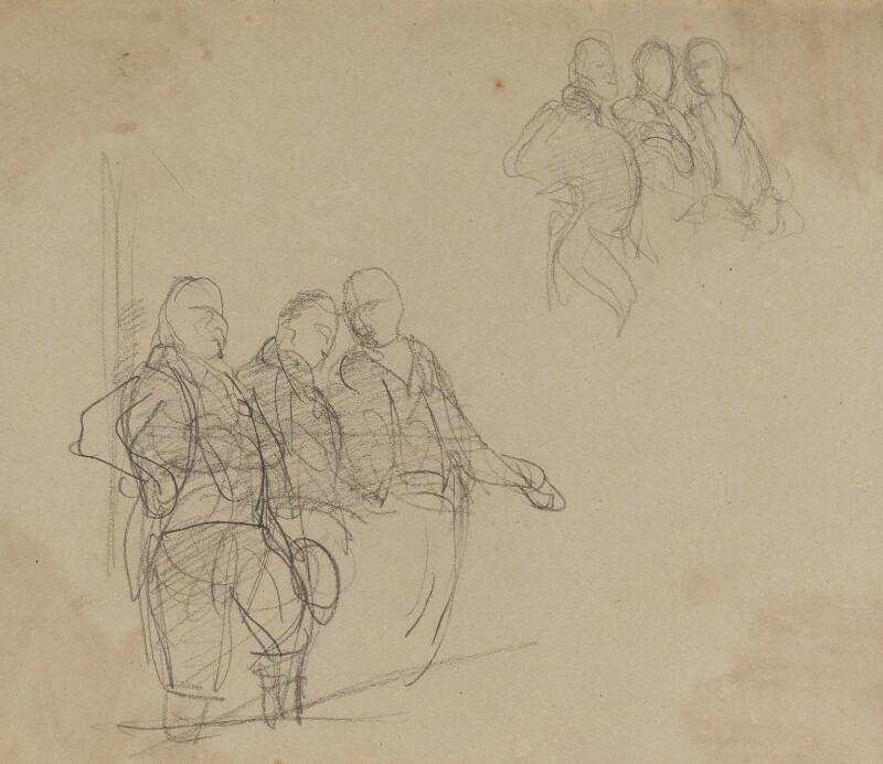 John Jeffreys Pratt, 1st Marquess Camden; Edward Southwell, 21st Baron de Clifford; Thomas Hampden, 2nd Viscount Hampden, by Sir George Hayter, circa 1820 - NPG 2662(27) - © National Portrait Gallery, London
