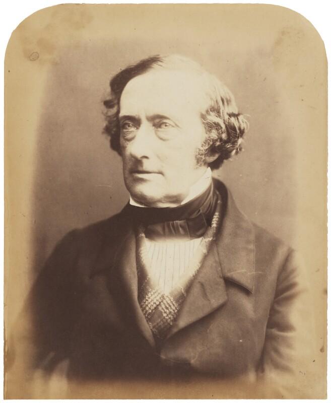 Philip Stanhope, 5th Earl Stanhope, by (George) Herbert Watkins, 7 March 1857 - NPG P301(7) - © National Portrait Gallery, London