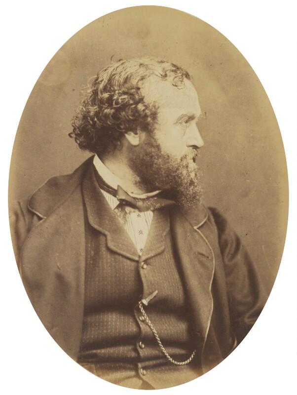 William Harrison Ainsworth, by (George) Herbert Watkins, late 1850s - NPG P301(15) - © National Portrait Gallery, London