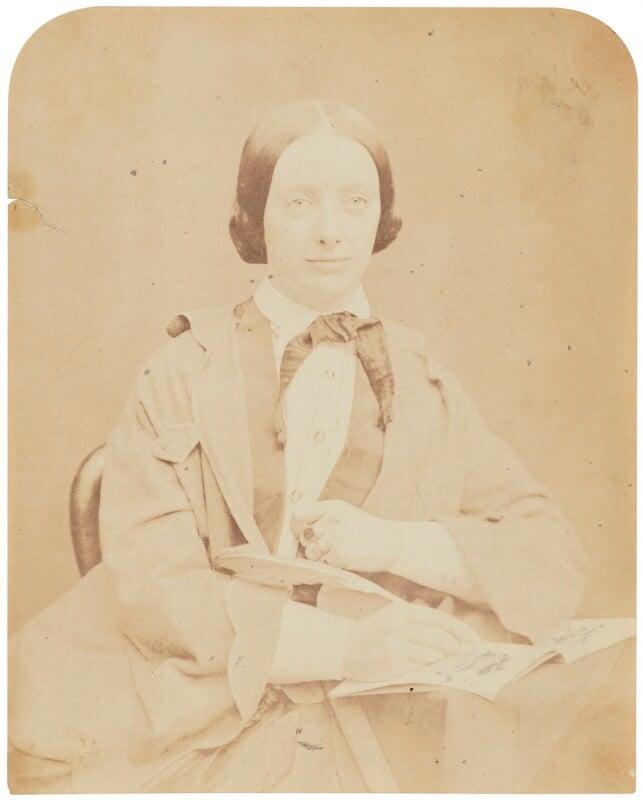 Amelia Edwards, by Herbert Watkins, late 1850s -NPG P301(23) - © National Portrait Gallery, London