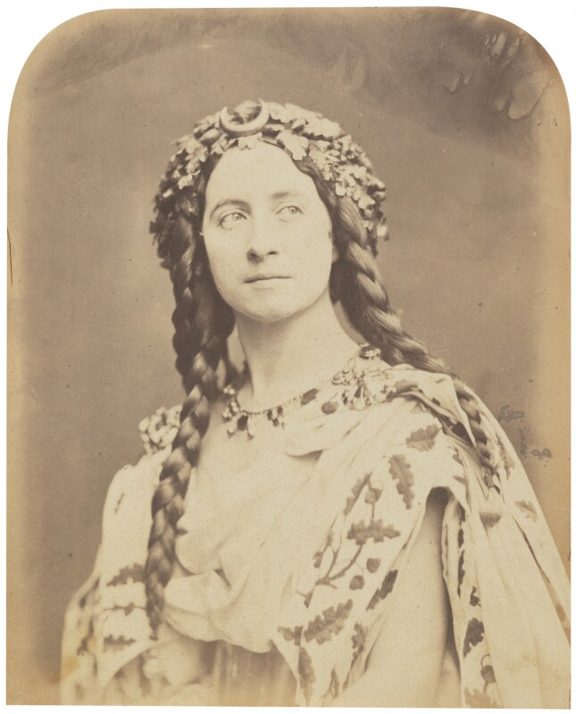 Adelaide Ristori, by Herbert Watkins, late 1850s - NPG P301(65) - © National Portrait Gallery, London