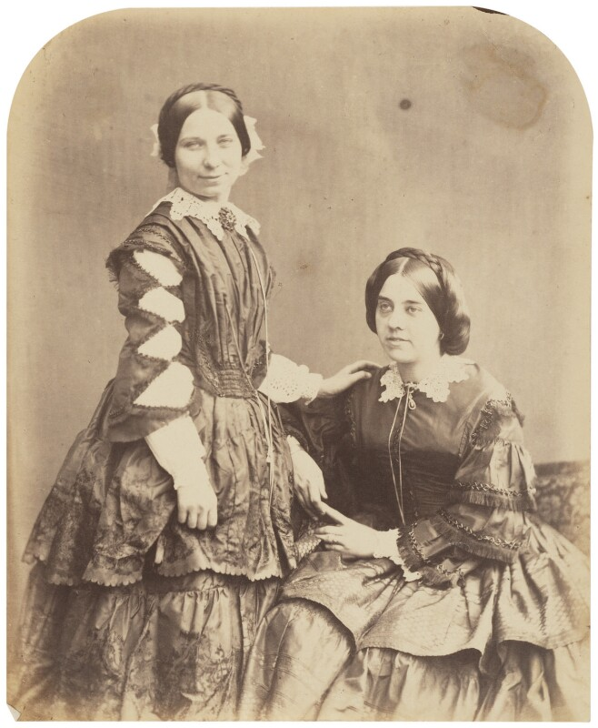 Misses Wright and Oliver (Rosina Wright; Pattie Oliver), by Herbert Watkins, late 1850s - NPG P301(71) - © National Portrait Gallery, London