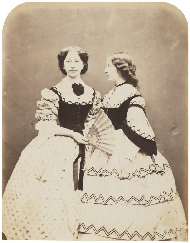 Catherine ('Katey') Elizabeth Macready Perugini (née Dickens); Mamie Dickens, by Herbert Watkins, late 1850s - NPG P301(72) - © National Portrait Gallery, London