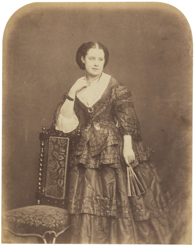 Mary Lucy Smith (née Keeley), by Herbert Watkins, late 1850s - NPG P301(74) - © National Portrait Gallery, London