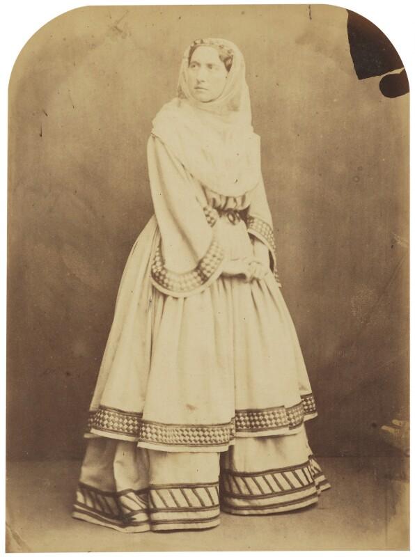Adelaide Ristori, by Herbert Watkins, late 1850s - NPG P301(93) - © National Portrait Gallery, London