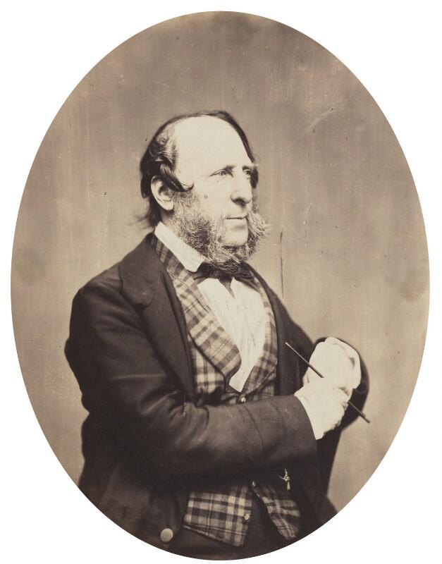 George Cruikshank, by Herbert Watkins, late 1850s - NPG P301(146) - © National Portrait Gallery, London