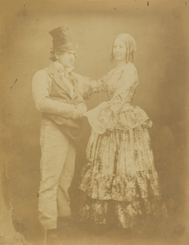 Barney Williams (Bernard Flaherty); Maria Williams (née Pray), by Herbert Watkins, late 1850s - NPG P301(159) - © National Portrait Gallery, London