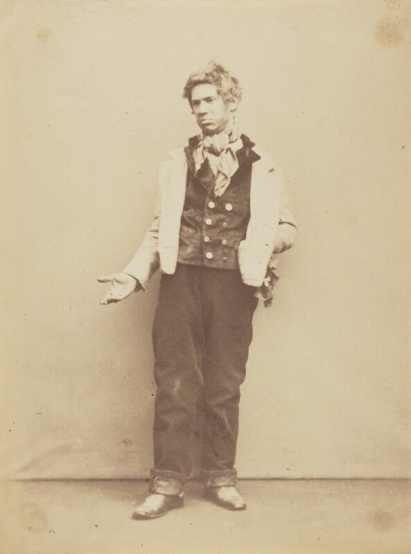 John Lawrence Toole as Tom Cranky in 'The Birthplace of Podgers', by Herbert Watkins, late 1850s - NPG P301(161) - © National Portrait Gallery, London