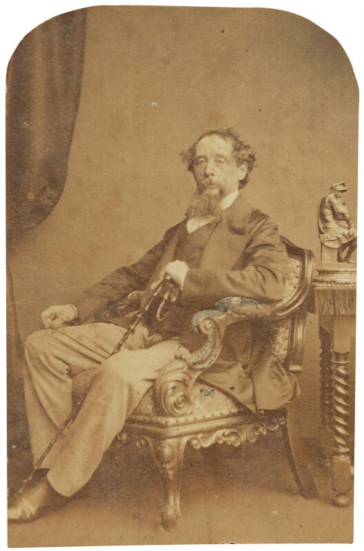 Charles Dickens, by Herbert Watkins, late 1850s - NPG P301(184d) - © National Portrait Gallery, London