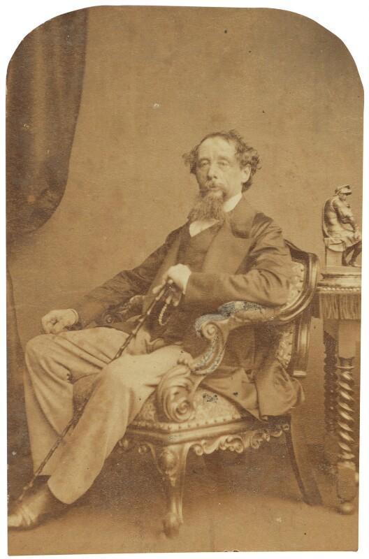 Charles Dickens, by (George) Herbert Watkins, late 1850s - NPG P301(184d) - © National Portrait Gallery, London