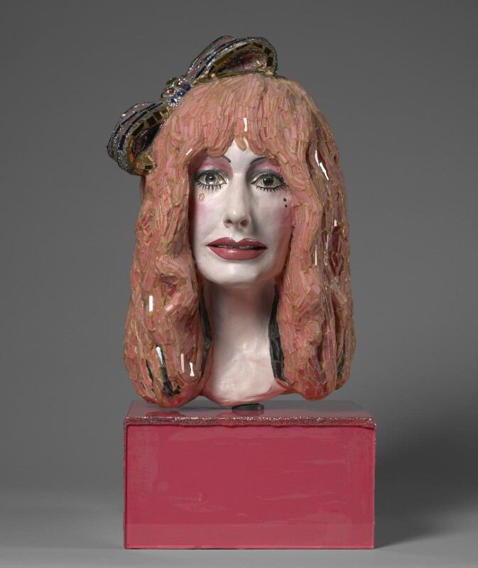 Zandra Rhodes, by Andrew Logan, 1989 - NPG 6221 - Photograph © National Portrait Gallery, London