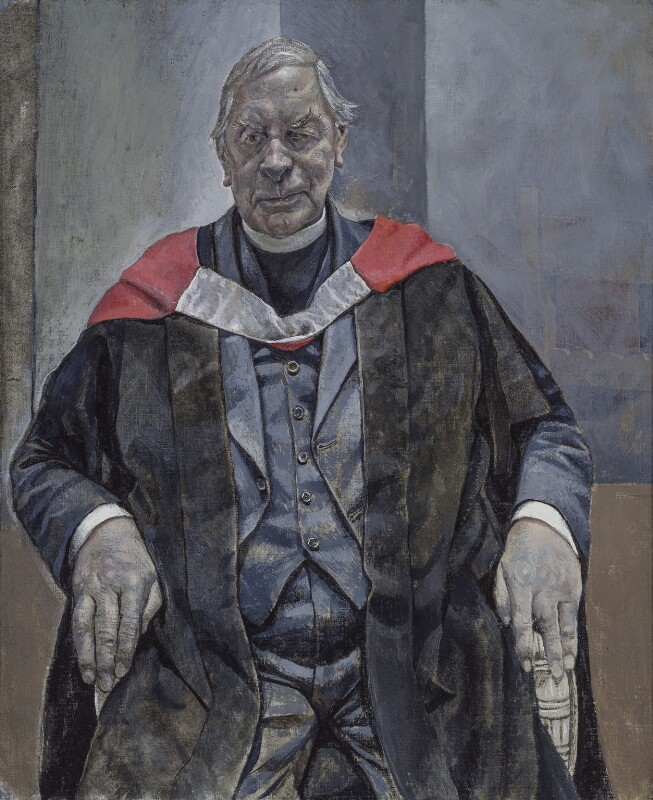 Edward Chad Varah, by Sarah Raphael, 1993 - NPG 6225 - © National Portrait Gallery, London