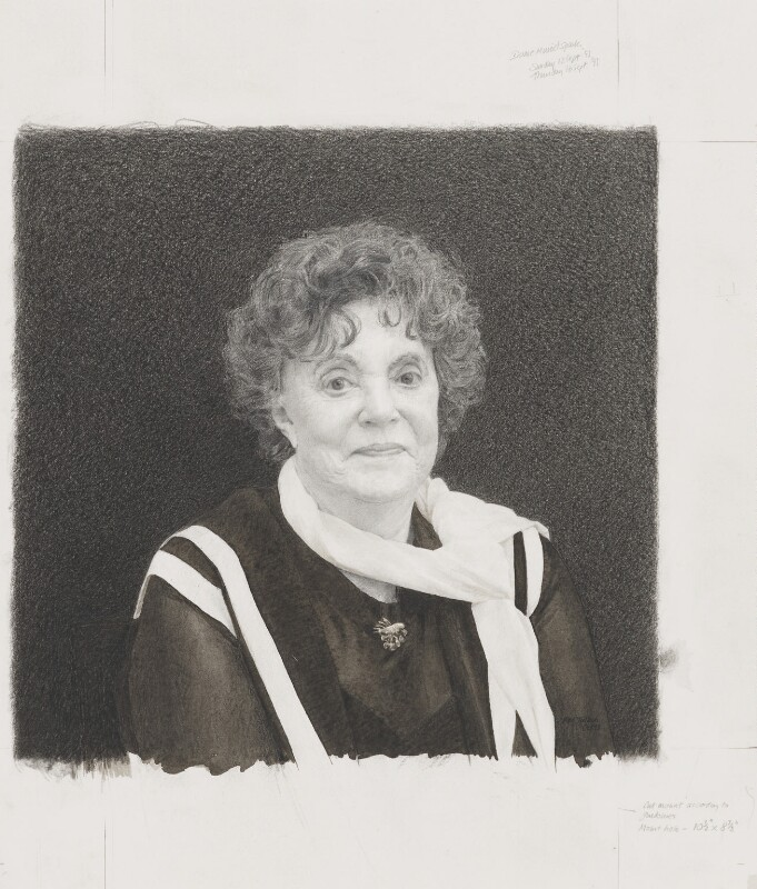 Dame Muriel Spark, by Bob Tulloch, 1993 - NPG 6226 - © National Portrait Gallery, London