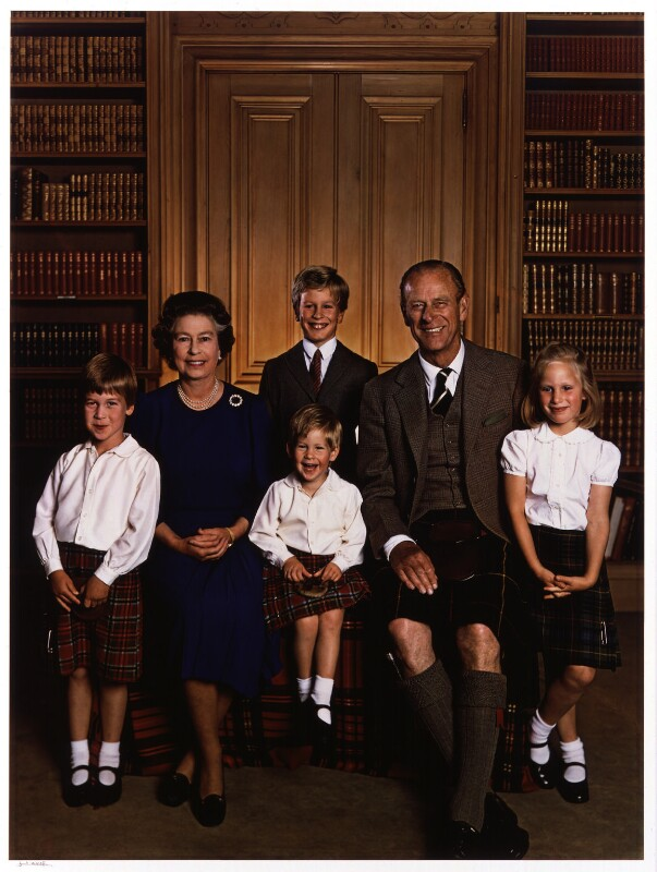 'Queen Elizabeth II and Prince Philip with their grandchildren', by Yousuf Karsh, 1987 - NPG P543 - © Karsh / Camera Press