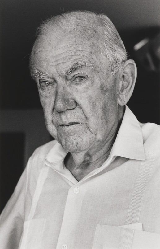 Graham Greene, by Alice Springs (June Newton), 1988 - NPG P545 - © Alice Springs