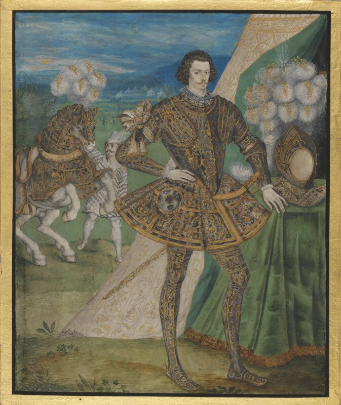 Robert Devereux, 2nd Earl of Essex, attributed to studio of Nicholas Hilliard, circa 1595 - NPG 6241 - © National Portrait Gallery, London