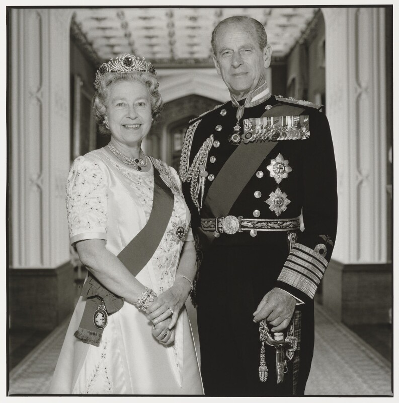 Queen Elizabeth II; Prince Philip, Duke of Edinburgh, by Terry O'Neill, 1992 - NPG P551 - © Iconic IMages/Terry O'Neill