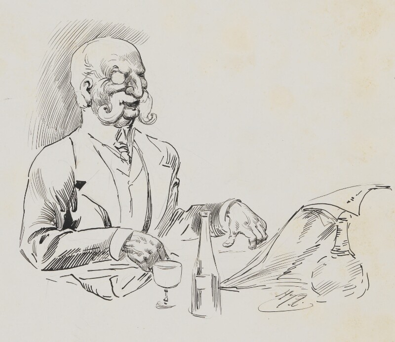 Joseph Ashby-Sterry, by Harry Furniss,  - NPG 6251(2) - © National Portrait Gallery, London
