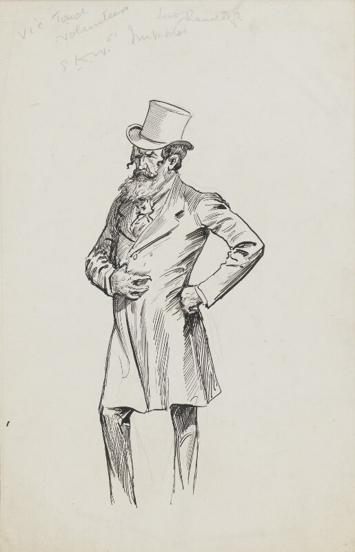 Lord Randolph Churchill, by Harry Furniss,  - NPG 6251(10) - © National Portrait Gallery, London
