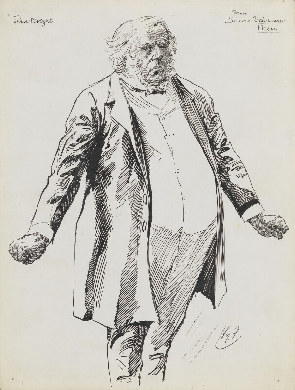 John Bright, by Harry Furniss,  - NPG 6251(8) - © National Portrait Gallery, London