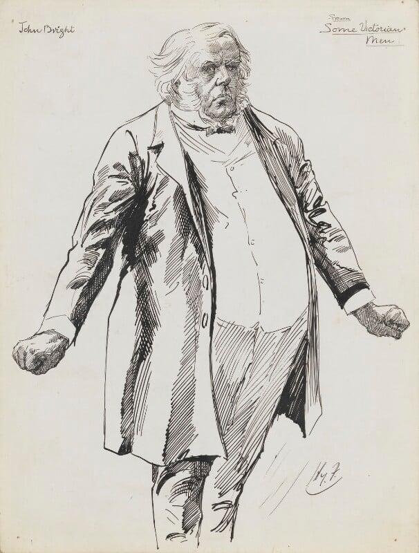 John Bright, by Harry Furniss,  - NPG 6251(8) - © National Portrait Gallery, London
