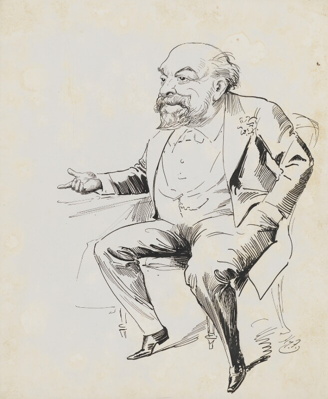 Sir (George) Anderson Critchett, 1st Bt, by Harry Furniss, circa 1900-1910 and circa 1923 -NPG 6251(13) - © National Portrait Gallery, London