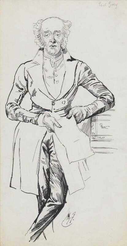 Charles Grey, 2nd Earl Grey, by Harry Furniss,  - NPG 6251(22) - © National Portrait Gallery, London