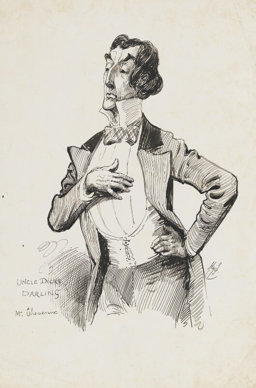 Sir Henry Irving, by Harry Furniss, circa 1869-1870 -NPG 6251(28) - © National Portrait Gallery, London